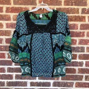Women's Bila Sheer Pretty Flowy Blouse Size XL